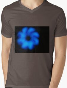 Blurred and defocused image of an abstract blue shapes Mens V-Neck T-Shirt