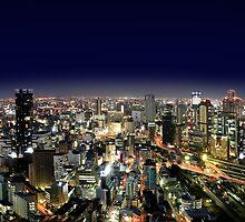 Osaka by Night - Japan by Digital Editor .