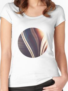 Lines/Abstract 7.1 Women's Fitted Scoop T-Shirt