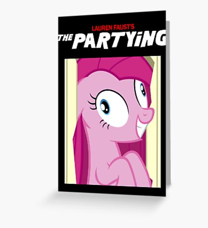 The Partying Poster Greeting Card
