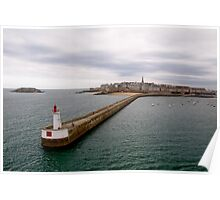 Leaving St Malo Poster
