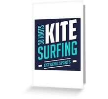 30 Knots Kitesurfing Art14c Greeting Card