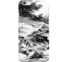 Achille Sirouy Mark Twain Les Aventures de Huck Huckleberry Finn illustration p123 iPhone Case/Skin