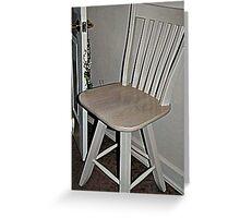a fine stool ... Greeting Card