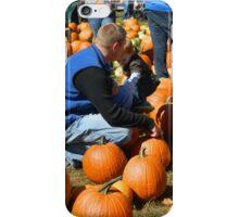 Fall Photos - Picking a Pumpkin iPhone Case/Skin