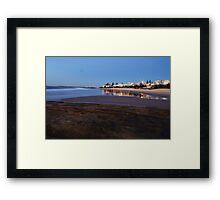 Golden sunrise - Kings Beach, Caloundra Framed Print