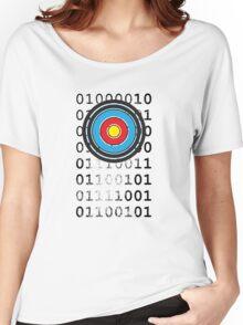 Bullseye archery target design Women's Relaxed Fit T-Shirt