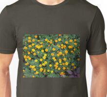 Top view of a big flower bed of yellow flowers Unisex T-Shirt