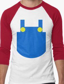 Mario Dungaree Print Men's Baseball ¾ T-Shirt