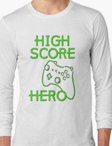 High Score Hero XBox Long Sleeve T-Shirt