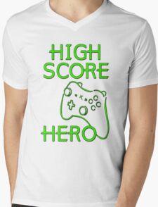 High Score Hero XBox Mens V-Neck T-Shirt