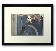 Who's that coming up the garden path !! Framed Print