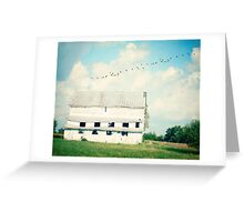 mead barn Greeting Card