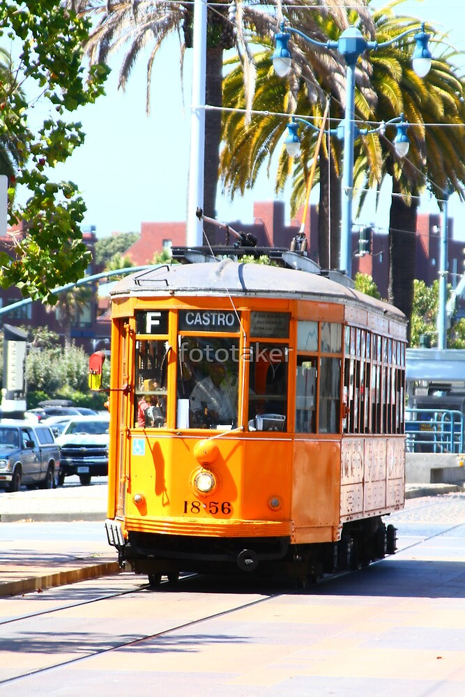 Number 1856 - Milan Streetcar in San Francisco  by fototaker