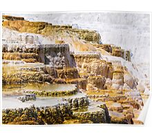 Mammoth Terraces, Yellowstone National Park Poster