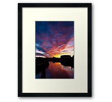 Salem South River Sunset Framed Print