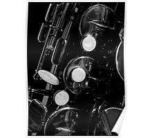 Saxophone keywork, 4 of 4 (bottom right) Poster