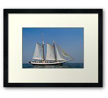 Schooner Liberty Clipper off Eastern Point Framed Print