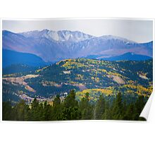 Colorado Rocky Mountain Autumn View Poster