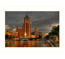 Milwaukee Riverboat Art Print
