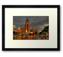 Milwaukee Riverboat Framed Print