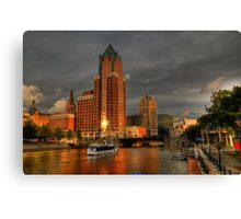 Milwaukee Riverboat Canvas Print