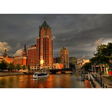 Milwaukee Riverboat Photographic Print