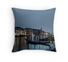 shore night scene Throw Pillow