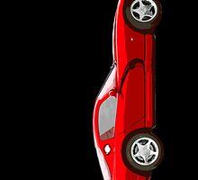 Dodge viper red cartoon by benbdprod