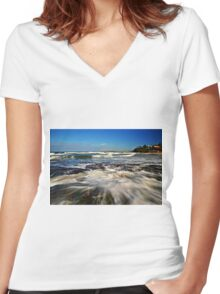 Nature's Palette Women's Fitted V-Neck T-Shirt