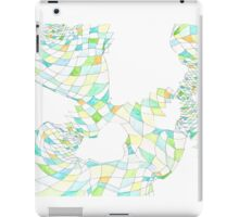 Geometric landscape green ochre drawing iPad Case/Skin