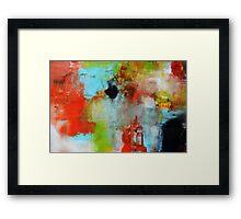 Red Blue Print  Framed Print