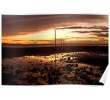 causeway sunset Poster