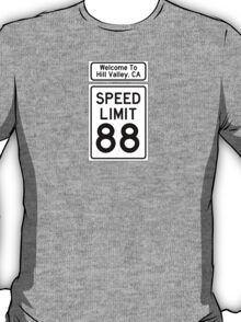 Hill Valley Speed Limit T-Shirt