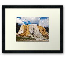 Orange Spring Mound, Yellowstone Framed Print