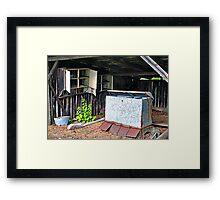 Uwharrie Shed (HDR) Framed Print