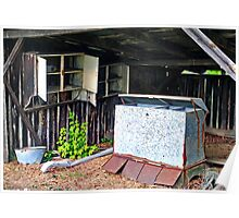 Uwharrie Shed (HDR) Poster