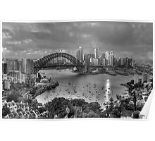 A Study In Black & White - Sydney Australia - The HDR Experience Poster