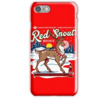 Rudolph's Red Snout Stout. A Christmas Brew iPhone Case/Skin