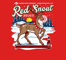 Rudolph's Red Snout Stout. A Christmas Brew Unisex T-Shirt