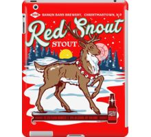 Rudolph's Red Snout Stout. A Christmas Brew iPad Case/Skin