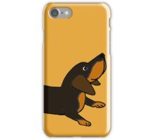 Playful Crouching Dachshund Puppy Dog Original Art iPhone Case/Skin