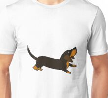 Playful Crouching Dachshund Puppy Dog Original Art Unisex T-Shirt