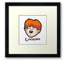 Wingardium Leviosa Ron Weasley Framed Print