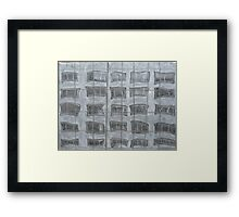 Wavy Windows Framed Print