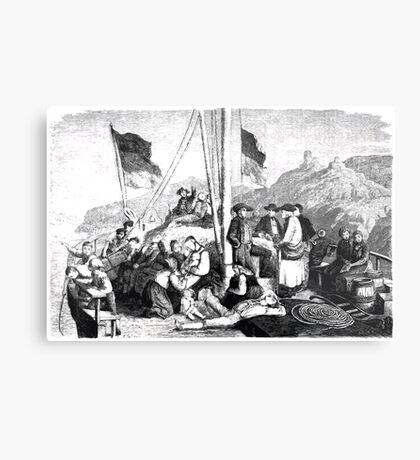Heinrich Leutemann Die Gartenlaube 1864 b 085 Metal Print
