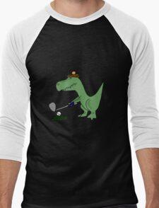 Cool Funky Green T-Rex Dinosaur Playing Golf T-Shirt