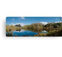 Lake Price with Mount Pillinger towering into the sky Canvas Print