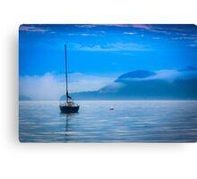 Orcas Sailboat Canvas Print