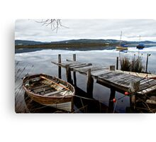 Row Boat on the Huon River Canvas Print